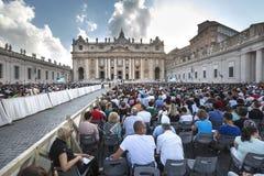 14 juin 2015 Le congrès d'Ecclesial du diocèse de Rome Image stock