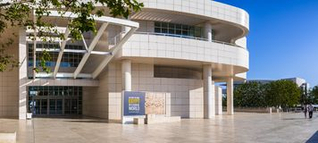 8 juin 2018 Los Angeles/CA/Etats-Unis - le hall d'entrée de musée au centre de Getty, conçu par Richard Meier image stock