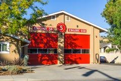 10 juin 2018 Morgan Hill/CA/Etats-Unis - caserne de pompiers dans la région de San Francisco Bay du sud photos stock