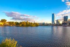 24 juin 2015 : Nemiga, Belarus Minsk Images libres de droits