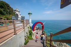 21 juin 2017 phare de Yeongdo au parc de Taejongdae, Busan, sud Image libre de droits