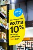 4 juin 2018 Santa Clara/CA/Etats-Unis - Amazone lance des offres pour les membres principaux dans les magasins de Whole Foods image stock