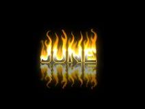 Juin sur l'incendie Photographie stock libre de droits