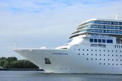 13 juin 2014 Velsen : Costa Neo Romantica sur le canal de la Mer du Nord Images libres de droits