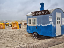 Juist, Frisian Island. Juist, Germany. At the beach.nJuist is one of the seven inhabited East Frisian Islands at the edge of the Lower Saxon Wadden Sea in the Royalty Free Stock Photos