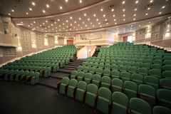 Juist-zij mening over registratie van conferentieruimte Royalty-vrije Stock Foto's