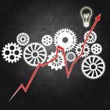 Bedrijfseconomie en besluit die - maken Stock Afbeeldingen