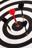 Juiste Bullseye (op Doel) Stock Foto