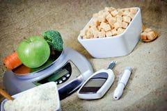 Juiste voeding - voedingszorg stock afbeelding