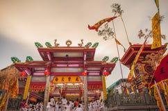 Juitui shrine Phuket vegetarian festival twilight Royalty Free Stock Photography