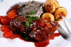 Juixy steak Stock Images
