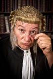 Juiz com monóculo imagens de stock