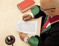 Juiz In Courtroom Foto de Stock