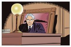 Juiz In Courtroom Ilustração conservada em estoque Imagens de Stock Royalty Free