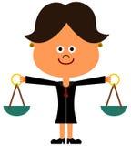 Juiz da senhora ilustração royalty free