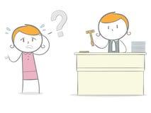 Juiz e réu ilustração royalty free