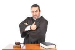 Juiz masculino sério imagens de stock royalty free
