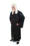 Juiz na peruca - corpo cheio Foto de Stock Royalty Free