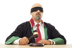 Juiz que bate o martelo Fotografia de Stock Royalty Free