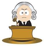 Juiz que usa seu gavel Fotos de Stock Royalty Free
