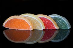 Jujube χρώματος στη ζάχαρη στοκ εικόνες με δικαίωμα ελεύθερης χρήσης