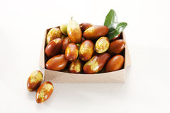 Jujube. Fresh jujube in a box on white background Royalty Free Stock Image
