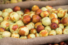 Jujube fruit from Italy for sale at market Royalty Free Stock Photos