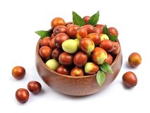 Jujube fruits Stock Images