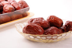 Jujube in the plate Stock Images