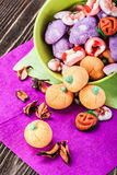Jujube and pumpkin souffle Stock Images