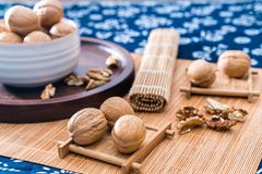 Jujube walnut and jujube stock image