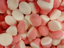 Jujube white pink bulk. View from above royalty free stock images