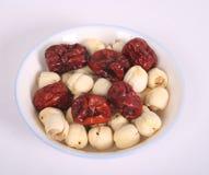 Jujuben und Lotos-Früchte Stockfoto