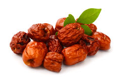 Jujubes/date. Chinese jujubes on white background Royalty Free Stock Photography