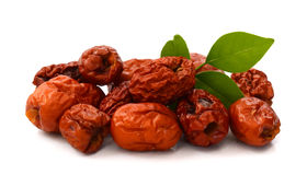 Jujubes/date. Chinese jujubes on white background Stock Images