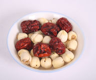 Jujubes and Lotus Fruits Stock Photo