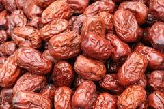 Jujubes rouges secs images libres de droits