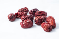 Jujubes rouges secs Images stock