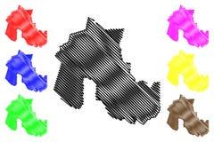 Jujuy översiktsvektor vektor illustrationer