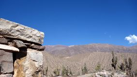 Jujuy Pucara de tilcara/pre-Inca befästning -, Argentina arkivbilder