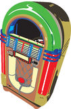 Juke-box de type d'années '50 illustration de vecteur