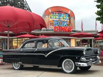 Juke Box Diner at Carowinds in Charlotte, North Carolina.  Stock Photo