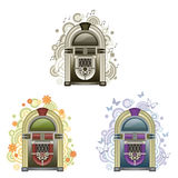 Jukebox. On a simple background stock illustration