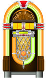 Jukebox. Automated retro music-playing device stock illustration