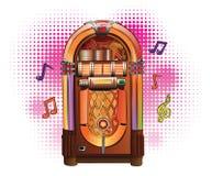 jukebox αναδρομικός Στοκ Εικόνες