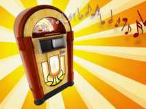 Jukebox. 3d rendering of jukebox from years 50 vector illustration