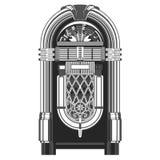 Jukebox - automated retro music-playing machine Royalty Free Stock Images