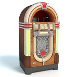 Jukebox. 3d illustration of a jukebox stock illustration