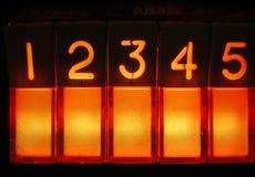 Jukebox dell'annata - tasti uno - cinque Fotografie Stock