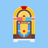 Jukebox Flat Icon. Jukebox color flat Icon. Vector illustration royalty free illustration